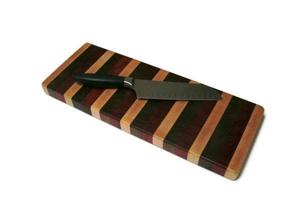 Wood Cutting Board - Rustic Board Cheese Board Bread Board -  Maple, Padauk, Black Walnut Cutting Board - Housewarming gift