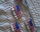 USA Flag - Satety Pin Jewelry