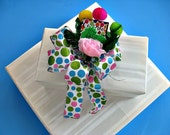 "Child's Gift Bow, Happy birthday bow, Birthday gift wrap bow, Animal birthday bow with ""balloons"", Birthday celebration (HB20)"
