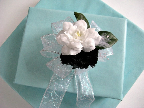 Gift wrap bow, Black and white wedding, Bridal shower bow, Package gift bow, Wedding bow, Bridal shower decoration (W43)