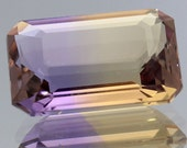 Handcut Polished Faceted Loose Gemstone Natural Ametrine Octagon  5.41 Ct.Jewelry Supplies Gemstones