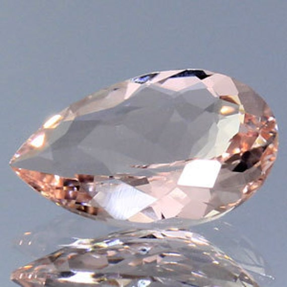 Pink  Morganite Pear 1.28 Ct.
