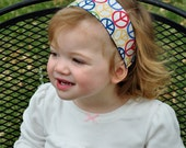 Childs Hippy Headband Reversible With Peace Sign Fabric 6