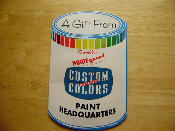 Gambles Paint Can Needlebook