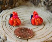 Human Heart studs