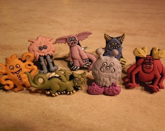 Adjustable rings with....monsters! (Avaible only the green, yellow, blue and red monster!!!Sorry...)