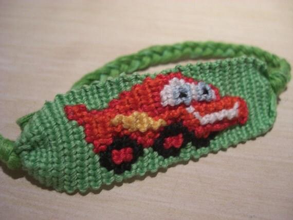 handmade cars lightning mcqueen embroidery floss friendship bracelet