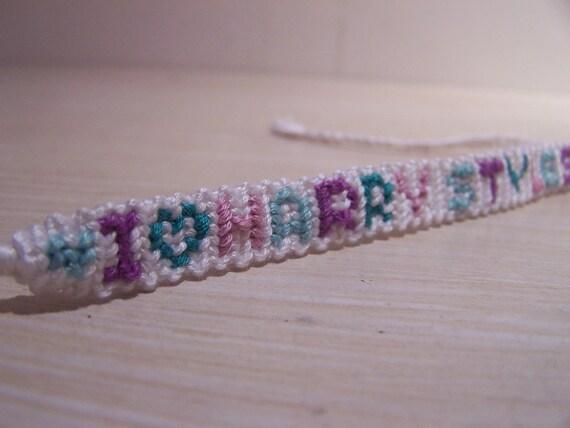 handmade 1D One Direction Harry Styles embroidery floss friendship bracelet