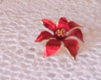 Red Flower Broach