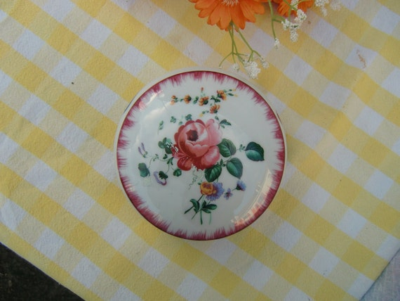 vintage french porcelaine trinket box hand painted