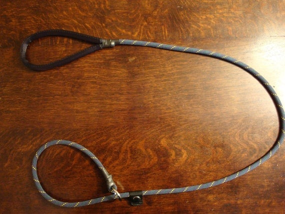 4 Foot Climbing Rope Slip Lead (Dog Leash) in Grey