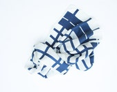 Echo Vintage Scarf for Women Navy, White, Long