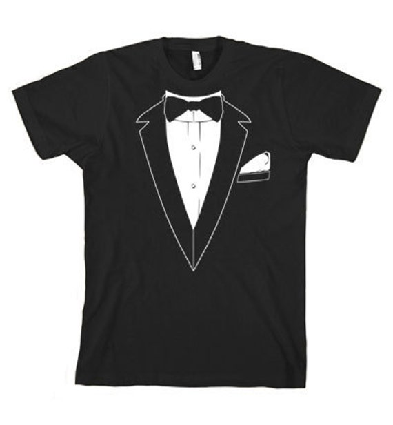 TUXEDO TSHIRT bridal wedding bachelor party t shirt funny 80s t shirt cool tshirt mens tshirt tee (also available on crewneck sweatshirts)
