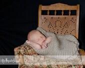 Newborn Baby Cocoon Photo Prop, Tan