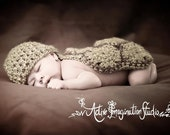 Preemie Premie Turtle Hat and Cape Set, Crochet Baby Photo Prop