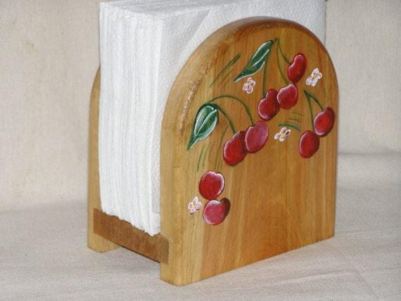cherry napkin holder