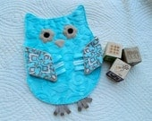 Whooo Loves You Crinkle Owl Snugglie