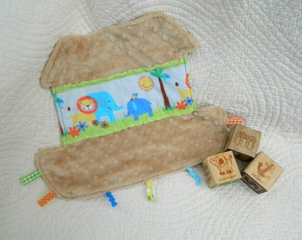 Soft and Sweet Noah's Ark Snugglie for Boys