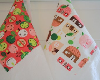 Flour Sack Towels- Merry Set of Two 'Appletown'