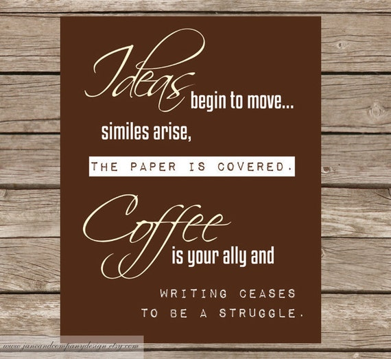 Coffee is your Ally Kitchen Art Print by JaneAndCompanyDesign