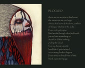 Blocked Giclee print with poem 13x17