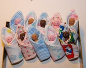 Custom Clothespin Baby Dolls in Flannel Blankets - Adorable