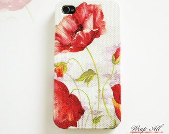 Red Poppies iPhone 6S case iPhone 6 case iPhone 6S Plus case iPhone 6 Plus case iPhone 5S case iPhone 5 case iPhone 4S case iPhone 4 case