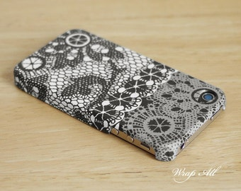 Black and White Lace Print iPhone 6S case iPhone 6 case iPhone 6S Plus case iPhone 6 Plus case iPhone 5S case iPhone 5 case iPhone 4S case