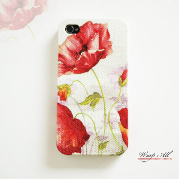Red Poppies iPhone case iPhone SE case iPhone 6S case iPhone 6 case iPhone 6S Plus case iPhone 6 Plus case iPhone 5S case iPhone 4S case