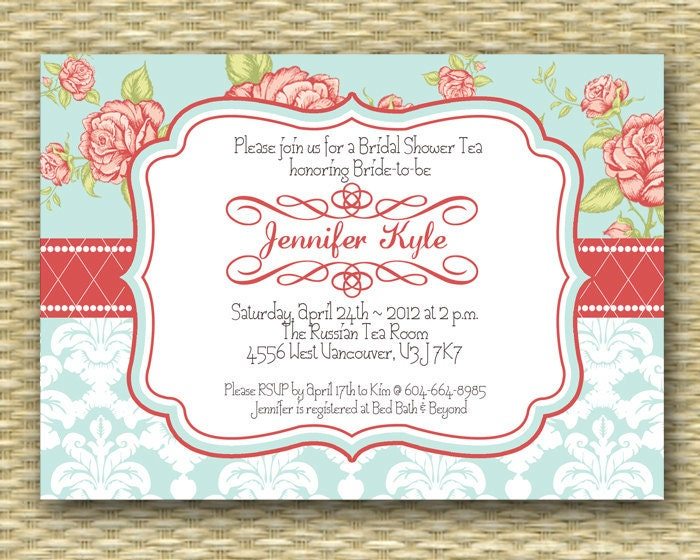 Bridal Shower Tea Party Invitations is nice invitation example