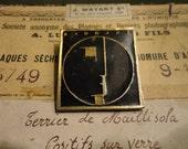Vintage 80s Mod Bauhaus Brooch Band Pin
