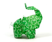 3D free style origami elephant sculpture by JinniInTheLamp - Table decor for wedding, birthday, party, event - Unique - St Patrick's Day