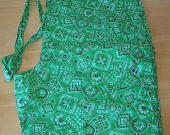 Nursing or Medical Bright Green Handkerchief Scrub Bottoms