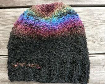 Rainbow 3 boucle hat