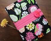 Kindle Case - Kindle Cover - Ebook Reader - Kobo - Nook -  iPad - Tablet - Padded - Flowers - Birds