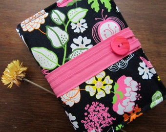 Kindle Case - Kindle Cover - Ebook Reader - Kobo - Nook -  iPad - Tablet - Padded - Flowers - Birds