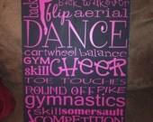 "11.5"" X 20"" Dance Cheer Gymnastics Subway Art"