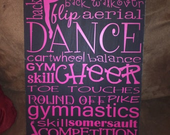 "11.5"" X 20"" Dance Cheer Gymnastics Subway Art"