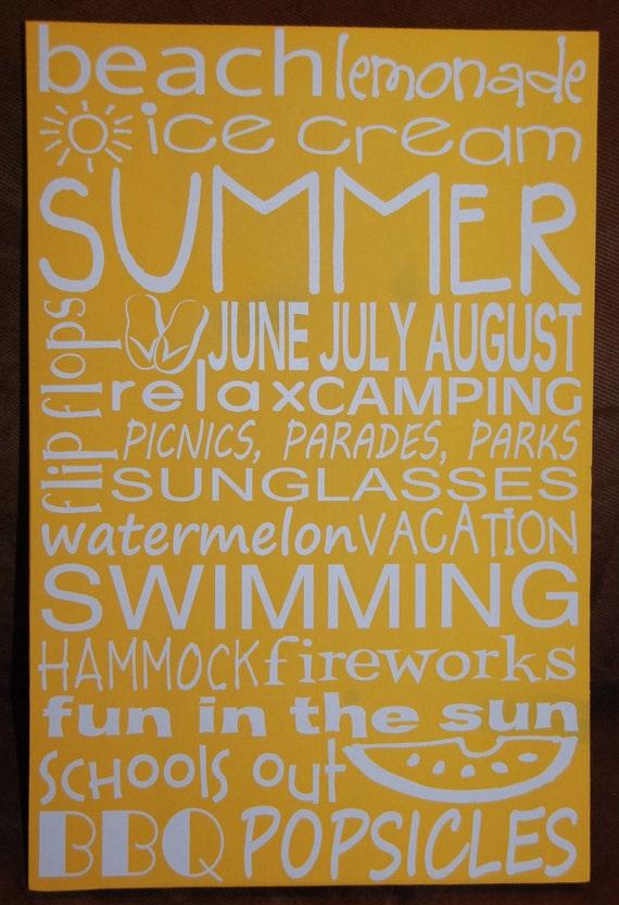 Summer Subway Art June July August