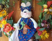 Country Bunny Spring Wreath