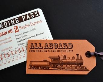 Child's Train Themed Birthday Invitation