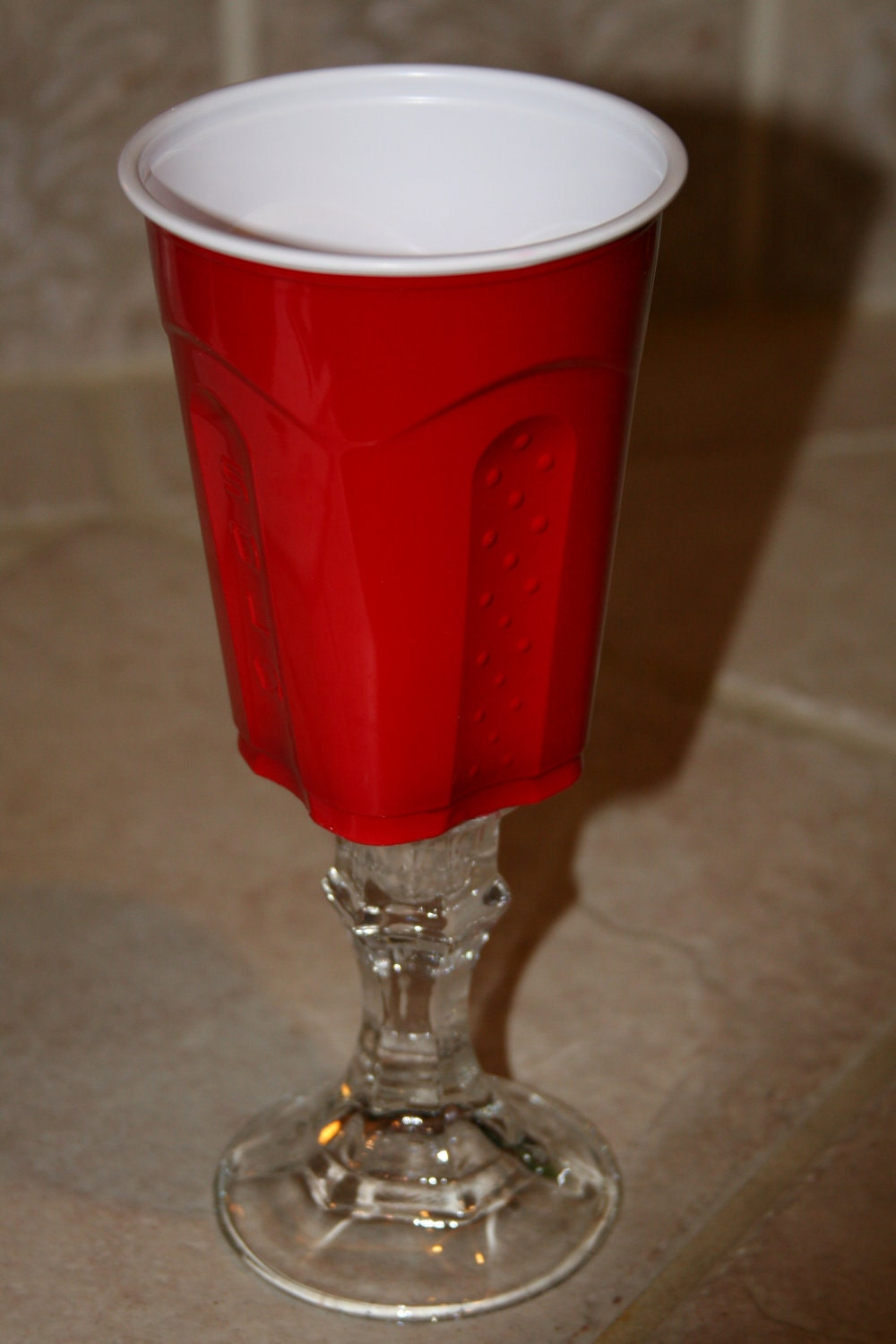 My Redneck Red Solo Cup Wine Glass