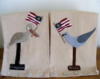 Americana Towels and Wool Felt Pattern