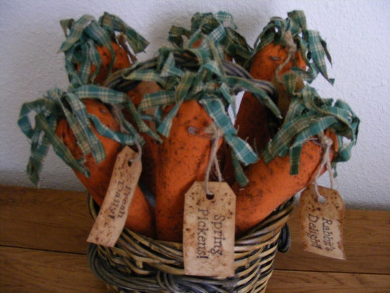 Rag Top Carrots -Bowl Ornies - Paper Pattern
