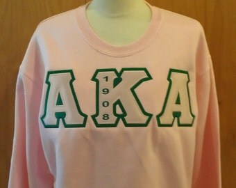 Greek Letter Crewneck Sweatshirts