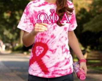 Greek Letter Awareness Tie Dye TShirt