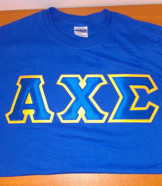 Greek Twill Letter Shirts
