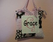 Butterfly and Daisy Tooth Fairy Door Pillow