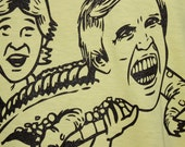 American Apparel Steve Irwin and Gary Busey Screen Printed Tee Shirt ALL SIZES