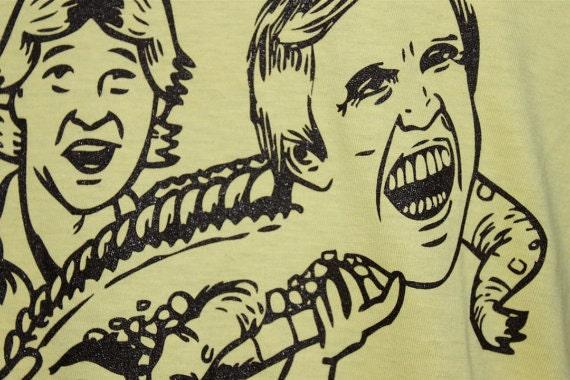 American Apparel Shirt Steve Irwin and Gary Busey Screen Printed Tee Shirt ALL SIZES